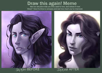 Draw this Again - Diane Portrait by skyrore1999