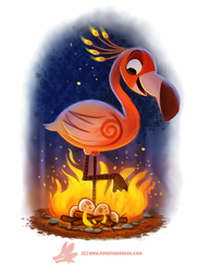 Daily Paint #1218. Flameingo by Cryptid-Creations