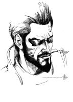 Adam Jensen, Inktober day1 by yuhime