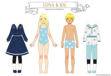 Paper Doll - Luna and Sol by Rosariy