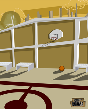 Total Drama - Basketball Court by HottestDrama