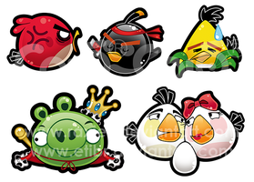 Angry Birds Stickers by Raxiell
