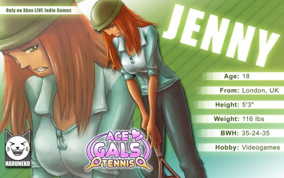Jenny from Ace Gals Tennis by giocchan