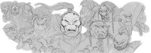 Orcs of warcraft by Wulfgnar