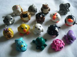 Animal Charms Low Detail by ChibiSayuriEtsy