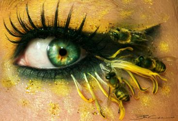 Bees by PixieCold
