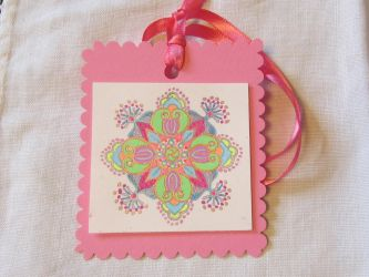 Joyful Pink Mandala ornament by Jeanne Kasten by mandalagal