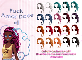 Pack Amor Doce - Cabelo Cacheado edit #1 by KagomeChan0