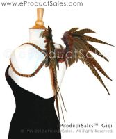 Gigi Back view B Natural feather Wings 4 costumes by eProductSales