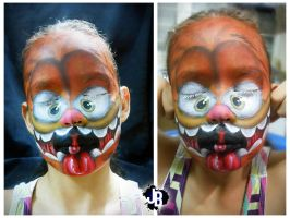 Crazy Garfield Makeup by JBerlyart