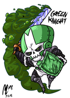 Green Knight (CC)| FreeArt #80 by blue-hugo