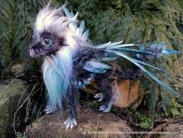 Teal Grey Dragon by SonsationalCreations