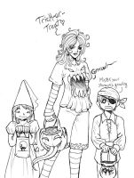 Trick Or Treat Lineart by raerae
