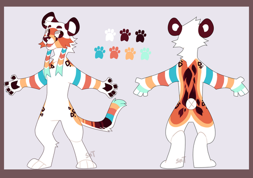 Cheeto Fursuit Ref by Sweet-n-treat