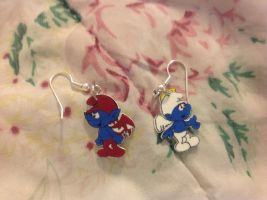 Smurfy earrings by RichHoboM3