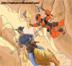 Jonah Hex VS Deadpool by realityerror