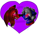 Red and blue Cuteness by Atomic52