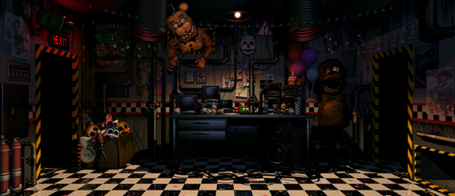 UCN | Withered Freddy in the office (All Games) by GooldenBear