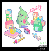 Larvitar!  Pokemon One a Day, Series 2!