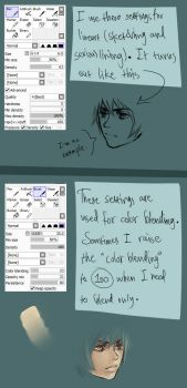 My SAI brush settings by Vylin