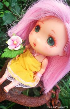 MLP Fluttershy Ddung OOAK 4\4 by PixieLify