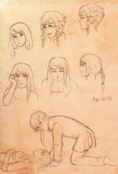 Io and Orion sketches by artisteri