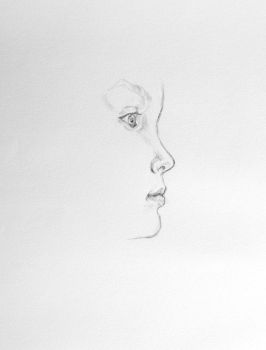 Unfinished graphite child profile by LightMourning