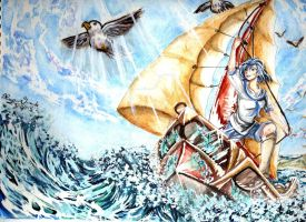 Sophie-Chan's art Contest:  Moria Sailing by Rozen-Guarde