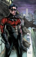 Nightwing 2014 Colors Red by hanzozuken