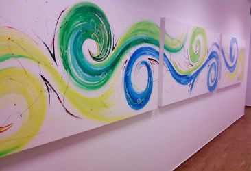 an other abstract painting by Tamilia