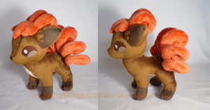 Pokemon: Vulpix Plush by sugarstitch