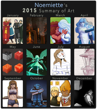A year of drawing by Noemiette