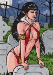 Vampirella Artist Proof 2 by ElainePerna