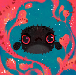 Angry puffer by pikaole