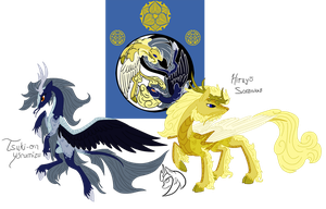 Kirin Clans: Emperor and Empress by ZenAquariaPony