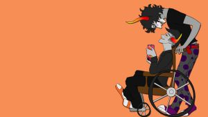 Homestuck: Gamzee and Tavros by SurlySkies