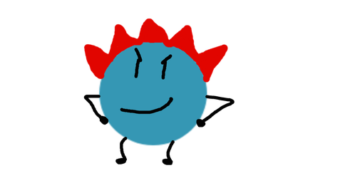 Another Random Pose of Red Flaming Spike Ball by AzUrArInG