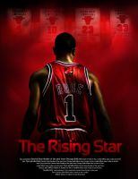 Derrick Rose poster by rokasm