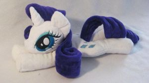 Rarity  Beanie - With cutie marks! by SailorMiniMuffin