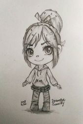 Vanellope sketch 2018 3 20 by summilly