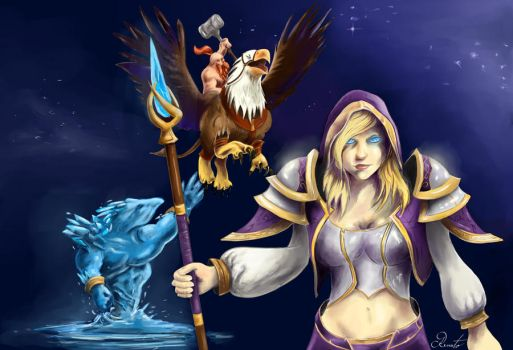 Jaina vs. Falstad by RenatoZivkovic
