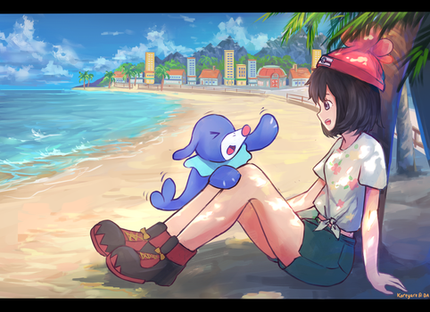 Pokemon Sun Moon Protagonis by kareyare