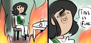 This Is Fine by stariitea
