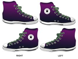 Purple All Star by LuciRamms