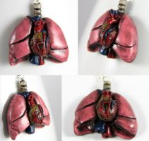 Heart and Lungs Necklace by NeverlandJewelry