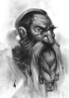 Dwarf sketch by muratgul