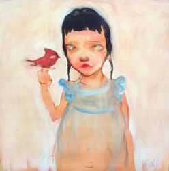 Girl with Bird by AngryBird