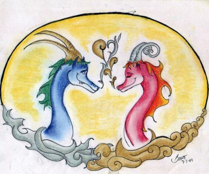 Two Dragons by Angelbmo