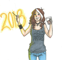 Happy 2013! by LilyScribbles