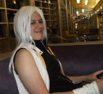 Riku and his DS by SpellboundFox